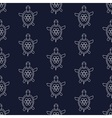 Nautical pattern with turtles vector image