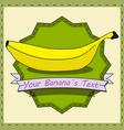 Retro Banana vector image