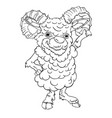 sheep goat male hand drawn vector image