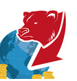 wall street bear world money vector image