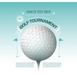 Golf tournament invitation banner background vector image