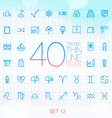 40 Trendy Thin Icons for web and mobile Set 12 vector image vector image
