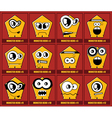 Set of twelve monsters vector image vector image