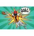 American football athlete ball goal vector image