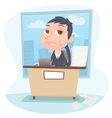 bored businessman vector image