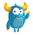 cartoon blue monster vector image