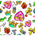 gifts presents seamless pattern winter holidays vector image