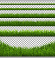 grass border set isolated vector image