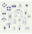 Hand drawn collection on a theme travel vector image
