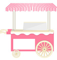 Ice cream pink cart vector image