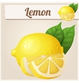 Lemon Cartoon icon vector image