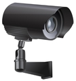 Surveillance camera viewed from the side vector image