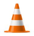 Traffic cone vector image