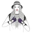 Young girl fashion vector image