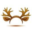 Mask Deer antler and ears vector image