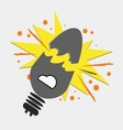 broken light bulb vector image