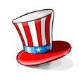 American national colors top-hat vector image