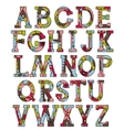 Alphabet in Christmas colors vector image
