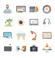 Freelance Icon Flat vector image vector image
