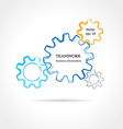 Color cogsgears on light background vector image
