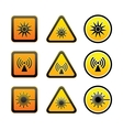 Set hazard warning symbols vector image