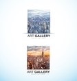 Art gallery painting logo abstract vector image
