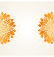 Background watercolor sunflowers vector image