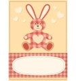 Card with the hare for baby shower 3 vector image