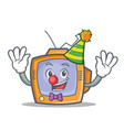 clown tv character cartoon object vector image