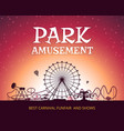 color background of amusement park poster vector image