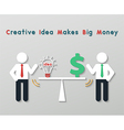 creative idea business concept vector image