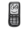 Funny mobile phone vector image