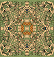green and beige floral decorative pattern vector image