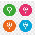 map pointer icons home food and user location vector image