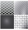 Metallic mesh set vector image