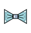 nice bowtie style decoration design vector image