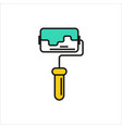 paint roller icon on white background vector image