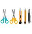 stationery elements set vector image