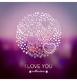 Valentines Day background round circle made of vector image