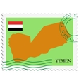 mail to-from Yemen vector image