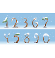Winter trees number on white background vector image vector image
