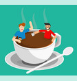 meeting coffee vector image