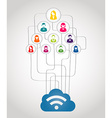 Business network concept vector image