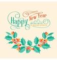 Christmas mistletoe brunch vector image vector image