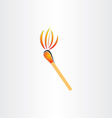 matches burning or fire torch symbol vector image