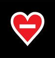 No loving sign vector image vector image