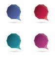 Set Low poly geometric speech bubble vector image