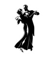 Dancing pair vector image