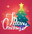 merry christmas calligraphy with background vector image