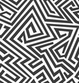 monochrome curved seamless pattern vector image
